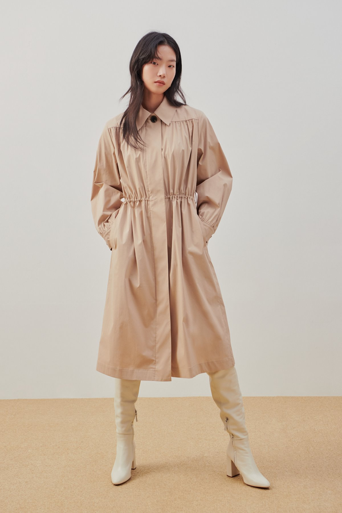 Dress Like Trench Coat Sand Beige